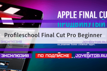 Profileschool Final Cut Pro Beginner