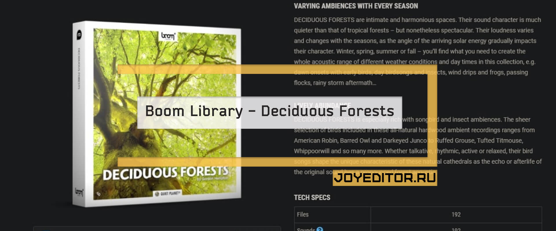 Boom Library - Deciduous Forests