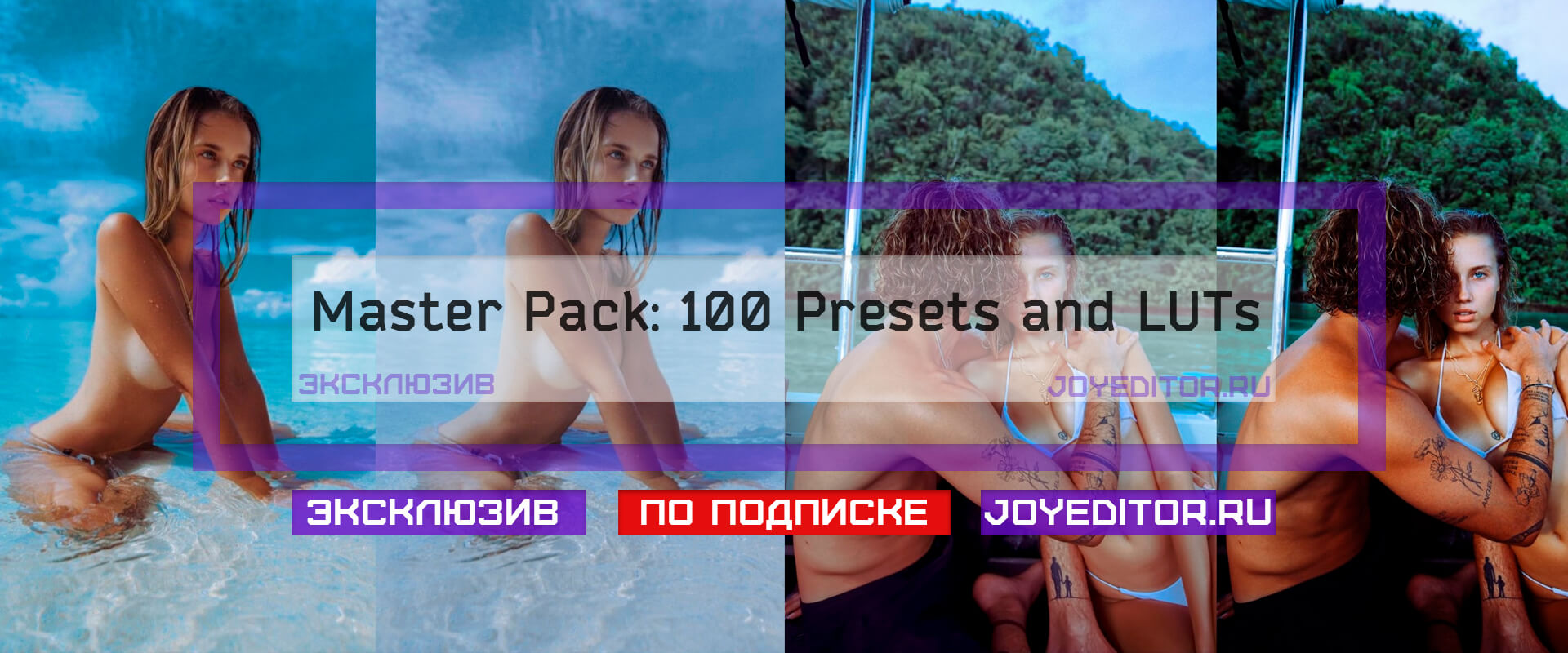 Master Pack: 100 Presets and LUTs